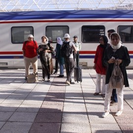 Golden Eagle International trains enter to Iran recently.، iran travel agencies ،Iran tour packages، tour operators in iran