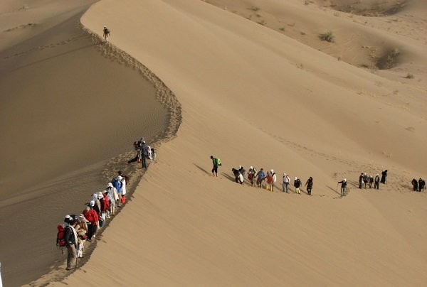 trip to Iran for visit Desert